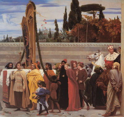 Leighton Cimabue s Celebrated Madonna right detail