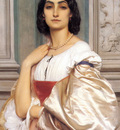 A Roman Lady La Nanna 1858 9 80x52cm