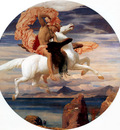 Perseus on Pegasus hastening to the rescue of Andromeda c1895 6 184 2cm