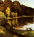 Leistikow Walter Riverscene with Forest Beyond
