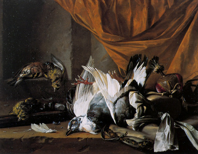 Lelienbergh Cornelis Still life with dead game Sun