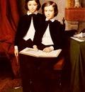 Leloir Jean Baptiste Auguste A Portrait Of Two Boys With A Sketchbook