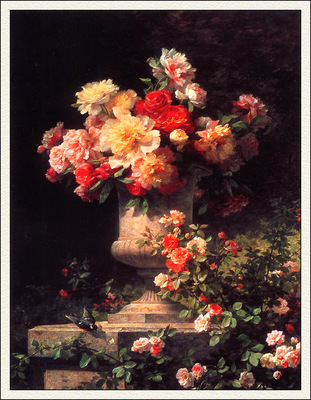 bs flo Madeleine Lemaire Peonies And Roses