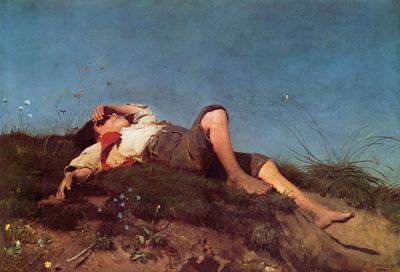 Lenbach Franz von A shepherd boy