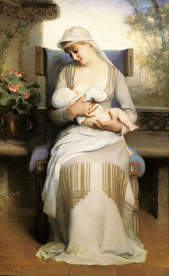 Levy Emile Young Mother Feeding Her Baby