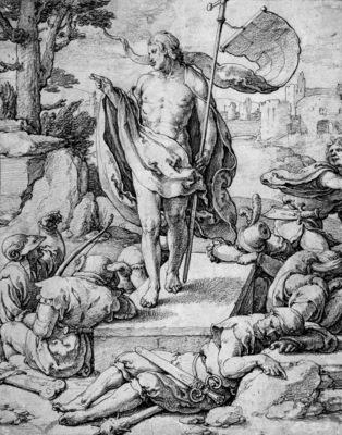 Leyden van Lucas The resurrection Sun