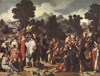 Lucas van Leyden Christ Healing the Blind, 1531, Eremitaget