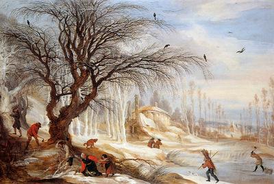 Leytens Gysbrecht Winterlandscape Sun