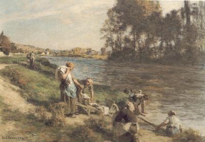 Laveuses au bord de la Marne