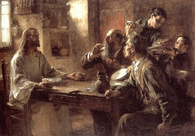 Supper at Emmaus 1892 oc 155 5x223cm