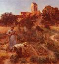 Lhermitte Leon Augustin Au Jardin, Charteves, Pres De Mont Saint Pere