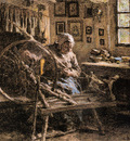 Lhermitte Leon Augustin The Spinning Wheel