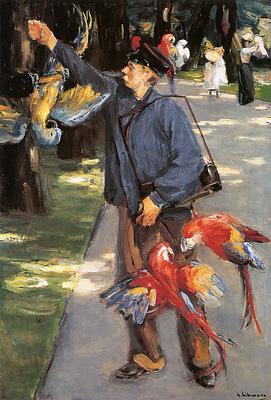 Liebermann Mex Parrot caretaker in Artis Sun