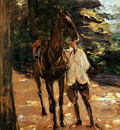 Liebermann Max Man with horse Sun