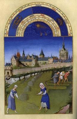Limbourg bros Les tres riches heures du Duc de Berry  Juin