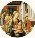 Lippi Madonna and Child with Stories of the Life of St  Anne