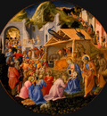 Lippi The Adoration of the Magi, c 1445, tempera on panel,