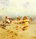 Llorens Jose Navarro An Arab Caravan On the Move