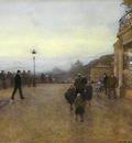 Loir Luigi A streetscene at dusk Sun