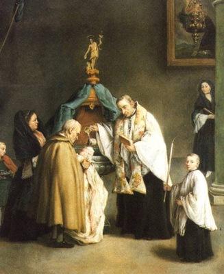 Il battesimo  1755  Venezia, Pinacoteca Querini Stampalla