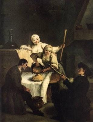 La polenta  1735 40  Venezia, ca Rezzonico