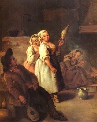 Le filatrici 1735 40  Venezia ca Rezzonico
