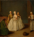 Longhi The Game of the Cooking Pot, c  1744, 49 9x61 7 cm,