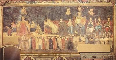 Lorenzetti,Ambrogio Allegory of the Good Government, Palazzo
