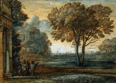Lorrain Claude Aeneas at Delos Sun