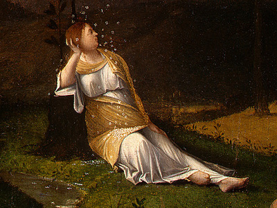 LOTTO ALLEGORY OF CHASTITY, C  1505, DETALJ 2 NGW