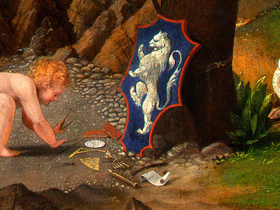 LOTTO ALLEGORY OF VIRTUE AND VICE, 1505, DETALJ 6, NGW