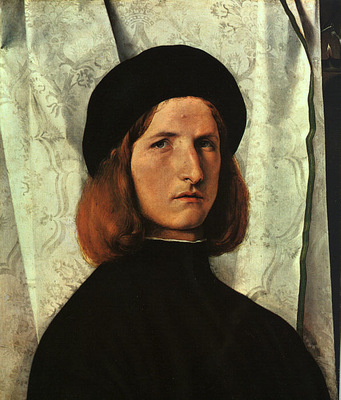 LOTTO PORTRAIT OF A YOUNG MAN, 1508, ART HISTORY MUSEUM, VIE