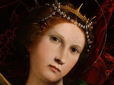 LOTTO SAINT CATHERINE, 1522, DETALJ 1, NGW