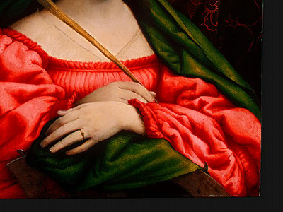 LOTTO SAINT CATHERINE, 1522, DETALJ 2, NGW