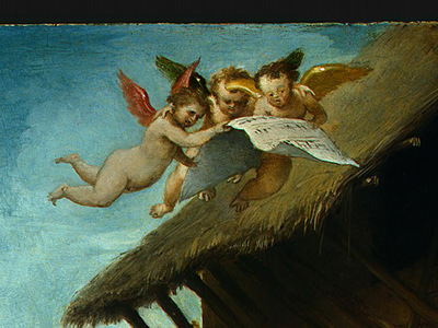 LOTTO THE NATIVITY, 1523, DETALJ 1, NGW