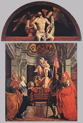 Madonna and Child with Sts Peter Christine Liberale and Jerome WGA