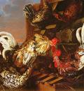 Luycks Christiaan 1623 to 1657 A Farmyard Scene With A Fox Attacking Bantams O C 100 3 by 140 5cm