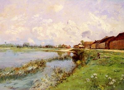 Yon Edmond Charles Joseph Paysage De Riviere