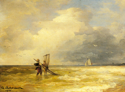 Achebach Andreas Fishing Along The Shore