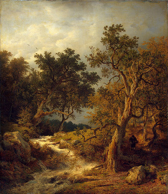 Achenbach Andreas Landscape with a Stream