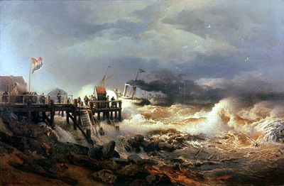 Achenbach Andreas Storm at Dutch Coast
