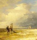 Achebach Andreas Fishing Along The Shore