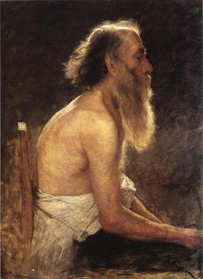 Adams John Ottis Half Length Figure Study
