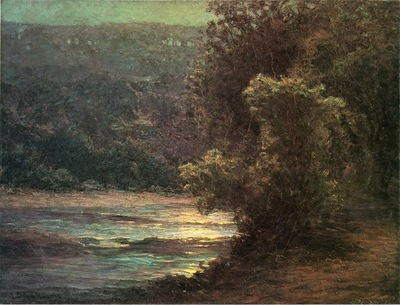 Adams John Ottis Moonlight on the Whitewater