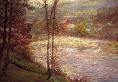 Adams John Ottis Morning on the Whitewater Brookille Indiana