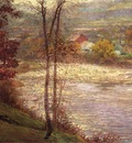 Adams John Ottis Morning on the Whitewater Brookille Indiana