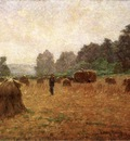 Adams John Ottis Wheat wain Afield