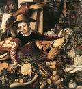 AERTSEN Pieter Market Woman With Vegetable Stall