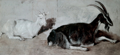 Agasse Jacques Laurent Two Goats