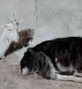 Agasse Jacques Laurent Two Goats